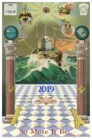 2019 Masonic Calendar York Rite, Scottish Rite, Shriners