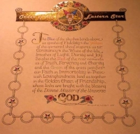 GOLD Order of the Eastern Star poem