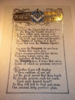 Poem on parchment with gold foil
