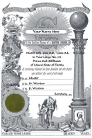 Personalized PRINCE HALL PHA  Certificate