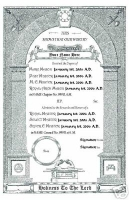 Personalized Royal Arch and Chapter Certificate