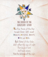 Eastern Star Poem