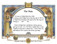 Personalized Past Master Certificate