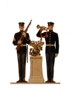 Two US Marines in Dress Blues