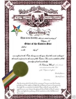 Personalized Eastern Star Certificate